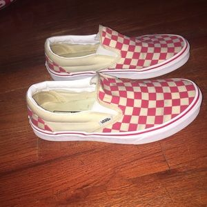 Red & white checkered board vans